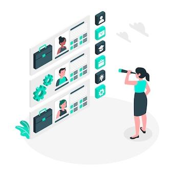 Ilustracja koncepcja zatrudnienia