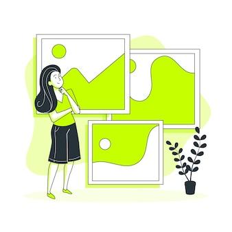 Ilustracja koncepcja zdjęć