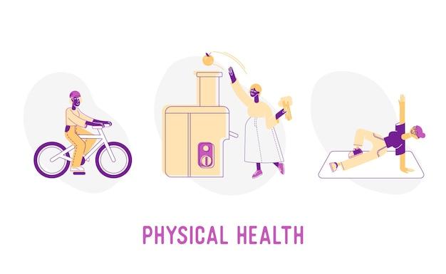 Ilustracja koncepcja zdrowia fizycznego