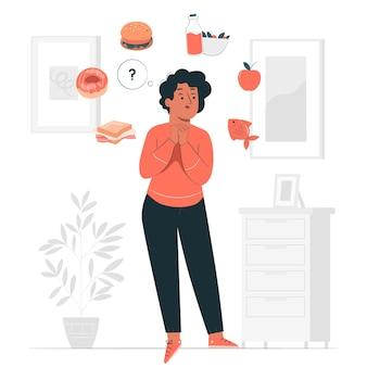 Ilustracja koncepcja zdrowych opcji