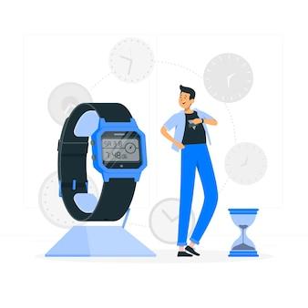 Ilustracja koncepcja zegarka