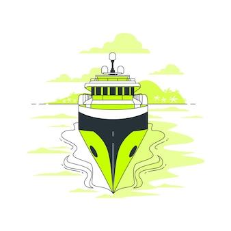 Ilustracja koncepcja żeglarstwa