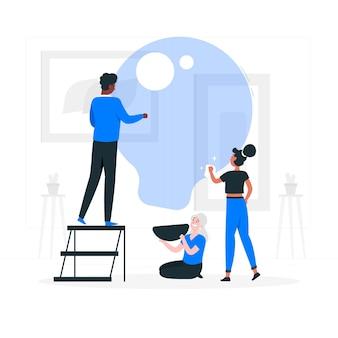 Ilustracja koncepcja zespołu kreatywnego