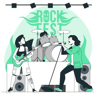 Ilustracja koncepcja zespołu rockowego