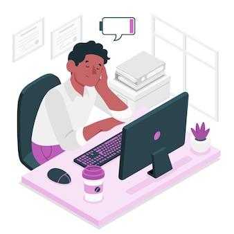 Ilustracja koncepcja zmęczenia
