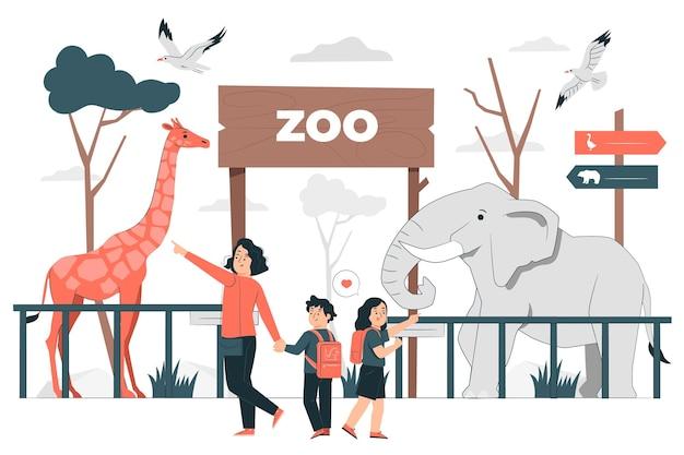 Ilustracja koncepcja zoo