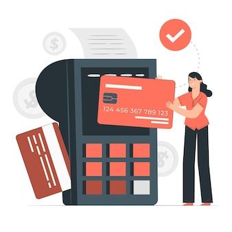 Ilustracja koncepcja zwykłej karty kredytowej