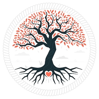 Ilustracja koncepcja życia drzewa
