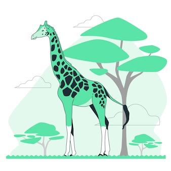 Ilustracja koncepcja żyrafy