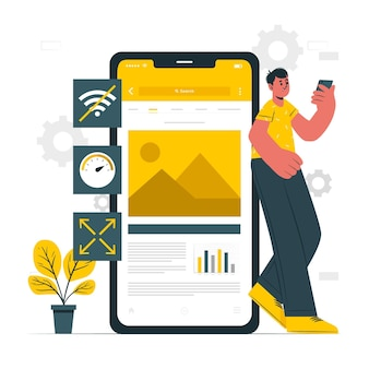 Ilustracja koncepcji aplikacji progresywnej