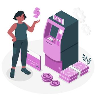 Ilustracja koncepcji bankomatu