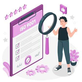 Ilustracja koncepcji certyfikacji iso