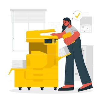 Ilustracja koncepcji drukarki