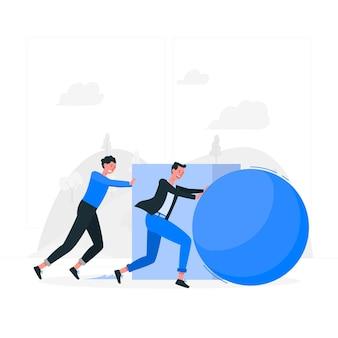 Ilustracja koncepcji efektywności