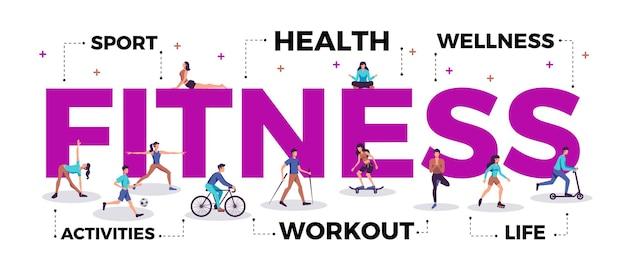 Ilustracja koncepcji fitness