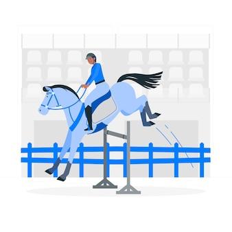 Ilustracja koncepcji jeździeckiej