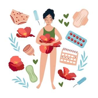 Ilustracja koncepcji kobiecego układu rozrodczego