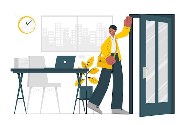 Ilustracja koncepcji końca dnia roboczego