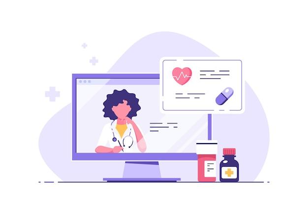 Ilustracja koncepcji konsultacji medycznej online