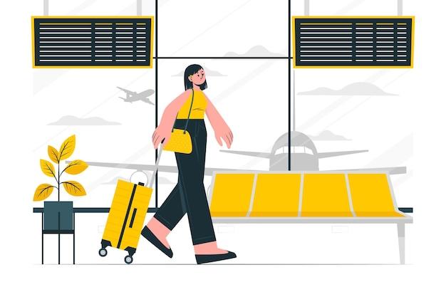 Ilustracja koncepcji lotniska