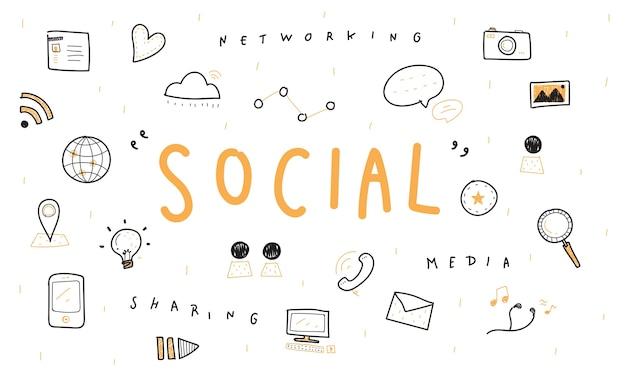 Ilustracja koncepcji mediów społecznych