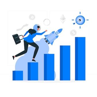 Ilustracja koncepcji misji biznesowej