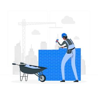 Ilustracja koncepcji murarza