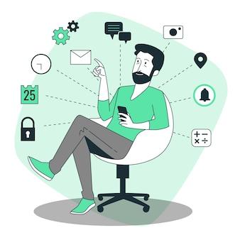 Ilustracja koncepcji narzędzi cyfrowych