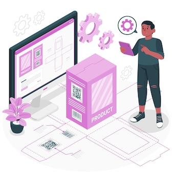 Ilustracja koncepcji opakowania cyfrowego