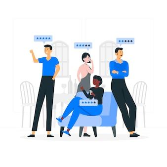 Ilustracja koncepcji opinii klientów