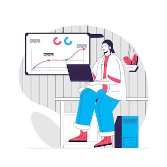Ilustracja koncepcji planowania biznesowego