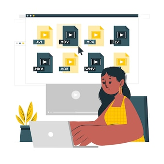 Ilustracja koncepcji plików wideo