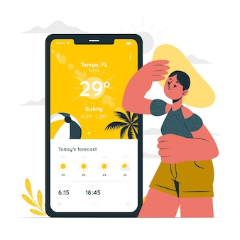 Ilustracja koncepcji pogody