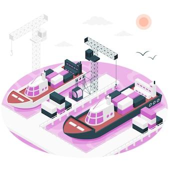 Ilustracja koncepcji portu