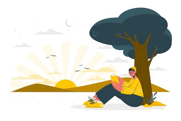 Ilustracja koncepcji przed świtem
