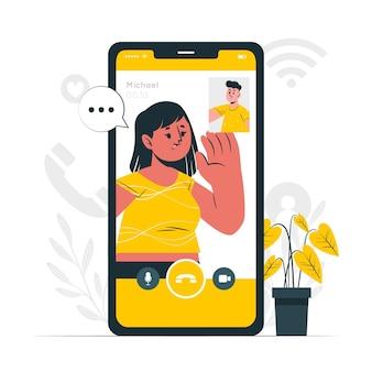Ilustracja koncepcji rozmowy wideo