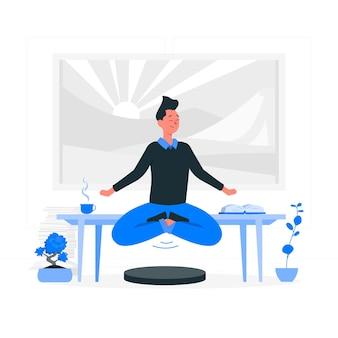 Ilustracja koncepcji spokoju umysłu