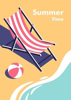Ilustracja koncepcji wakacji i podróży w minimalistycznym stylu