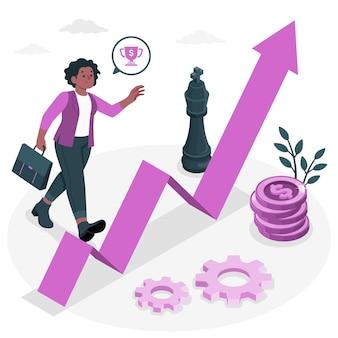 Ilustracja koncepcji wyzwania biznesowego