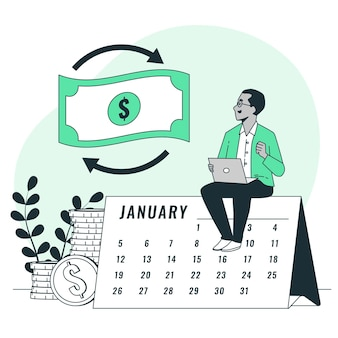 Ilustracja koncepcji zwrotu pieniędzy