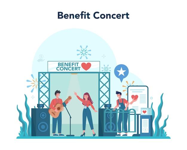 Ilustracja koncertu dla wolontariuszy