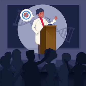 Ilustracja konferencji medycznej