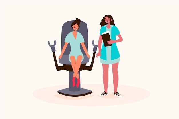 Ilustracja konsultacji ginekologicznych
