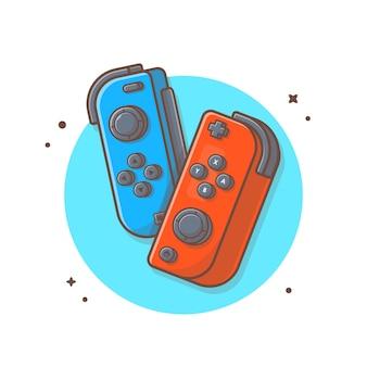 Ilustracja kontrolera gier. koncepcja ikona konsoli do gier
