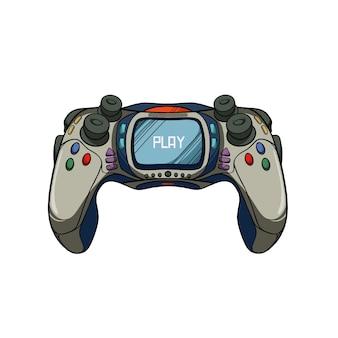 Ilustracja kontrolera joysticka do gry