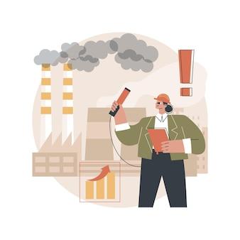 Ilustracja kontroli jakości powietrza