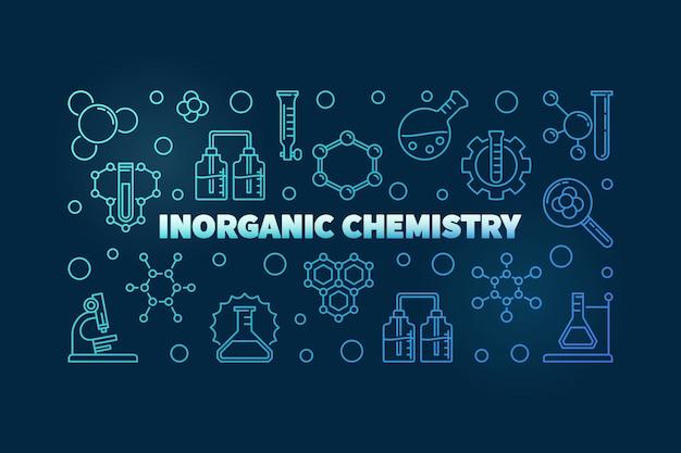 Ilustracja kontur niebieski koncepcja chemii nieorganicznej