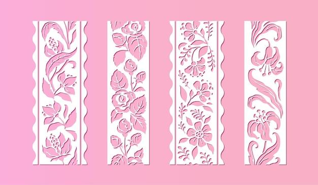 Ilustracja koronki kwiat