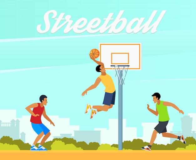 Ilustracja koszykówki ulicznej