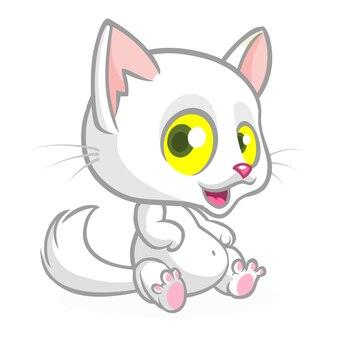 Ilustracja kot śmieszne kreskówki